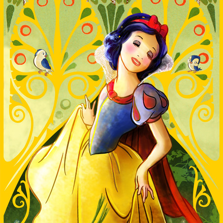 公主系列-白雪公主 Princess Mucha Inspired Snow White