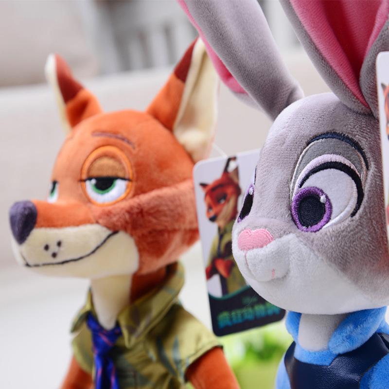 所有商品 疯狂动物城公仔  迪士尼系列 朱迪和尼克毛绒玩具公仔 ¥39.
