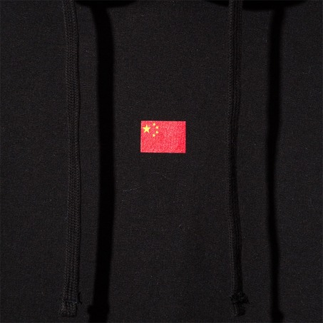 BLACK/RED CHINA FLAG HOODY-2