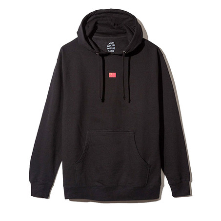 BLACK/RED CHINA FLAG HOODY