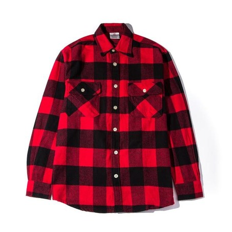 FLANNEL RED/BLACK WHITE No Expectations Flannel-2