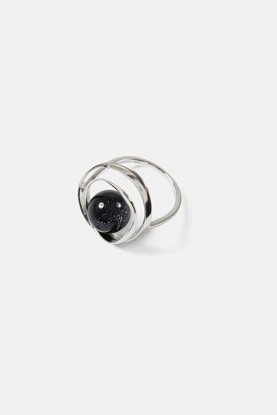 TORUS RING- BLUE GOLD STONE