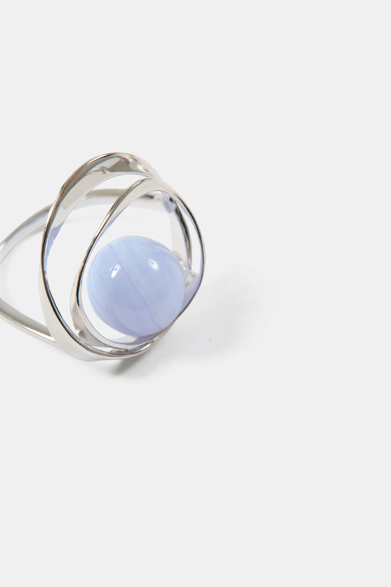 TORUS RING- BLUE LACE AGATE