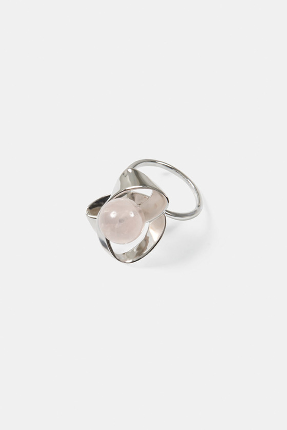 RIBBON RING- ROSE QUARTZ