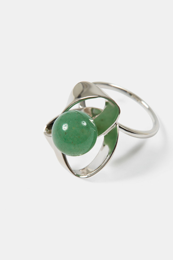 RIBBON RING- GREEN AVENTURINE