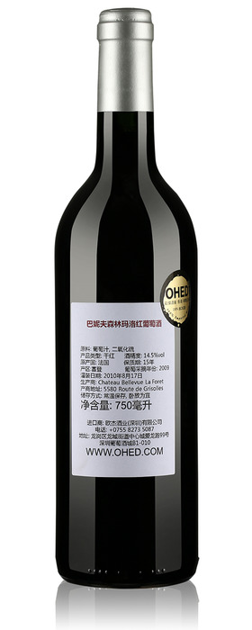巴妮夫森林玛洛红葡萄酒2009-2