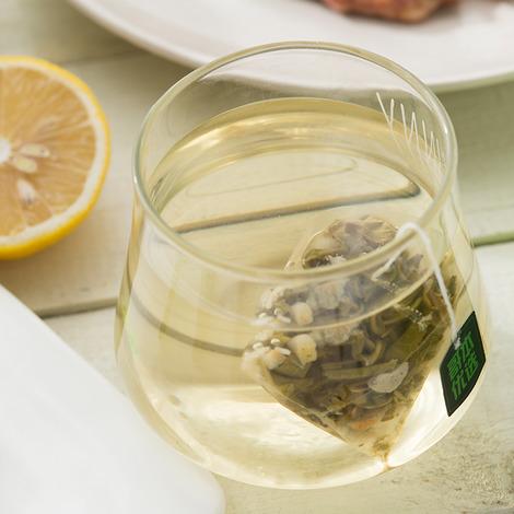 茉莉风味柠檬果粒绿茶-4