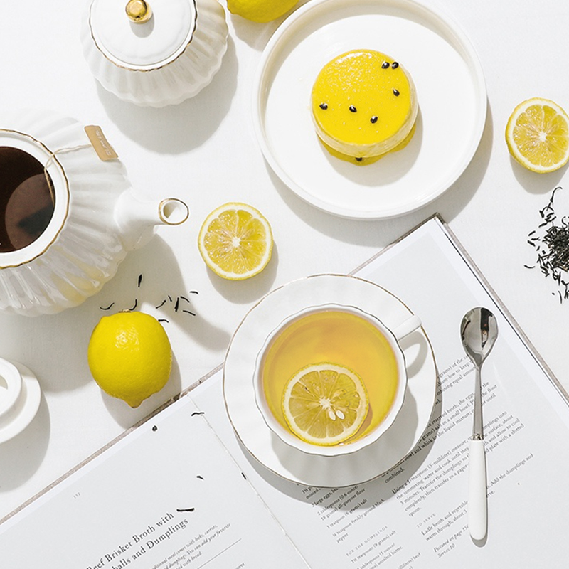 茉莉风味柠檬果粒绿茶