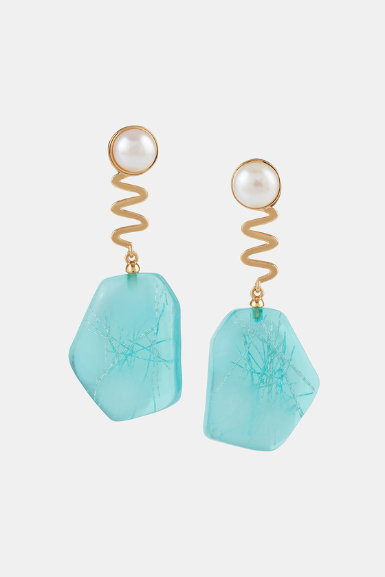 TANGUY EARRINGS SEA KALE & PEARL