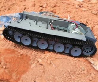 超大坦克机器人底盘 履带车 悬挂 虎式坦克 减震 平台 越野 暴力