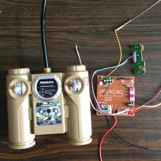 六6通道 DIY 遥控电路板 遥控器 带外壳 40/27Mhz 10米 3-8V
