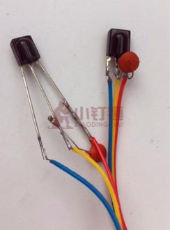 0038 万能接收头 塑封红外接收头 红外接收管 带端子线 带电容