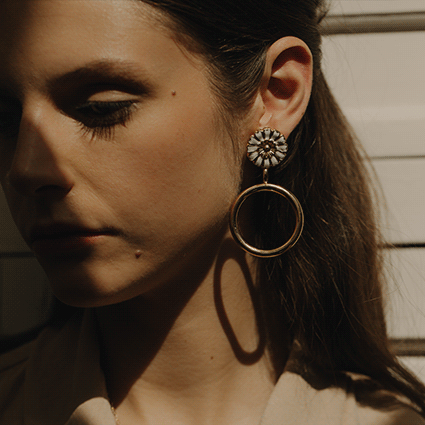 Louise Damas | Henriette Hoop earrings