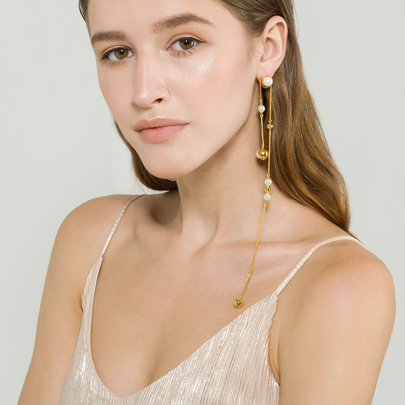 遇见系列多用款超长线型耳环