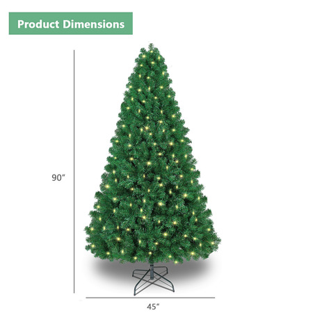 SHareconn 7.5ft Pre-lit Premium Artificial Christmas Tree, Xmas Tree with 470 Warm Lights-2