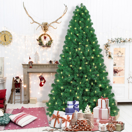 SHareconn 7.5ft Pre-lit Premium Artificial Christmas Tree, Xmas Tree with 470 Warm Lights-5