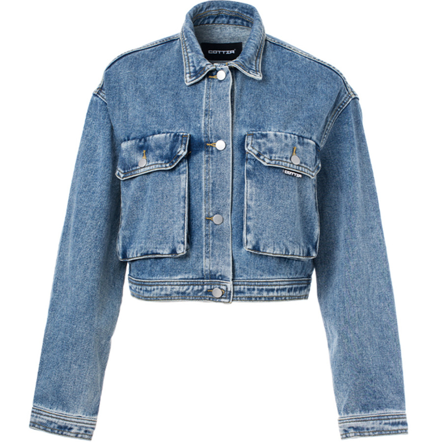 COTTIA 大口袋短款牛仔外套 Big Pocket Short Denim Jacket